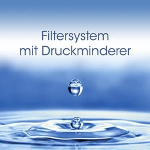 Filtersystem mit Druckminderer