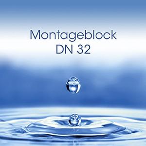 Montageblock DN32 mit Verschneidearmatur und Rückflussverhinderer